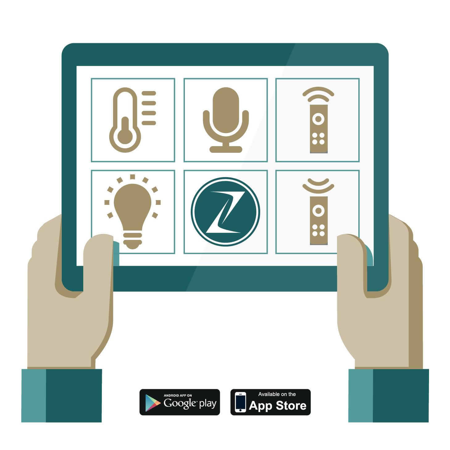 Zerynth App on Tablet