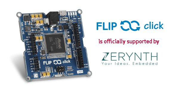 MikroElektronika's Flip&Click is officially supported by Zerynth