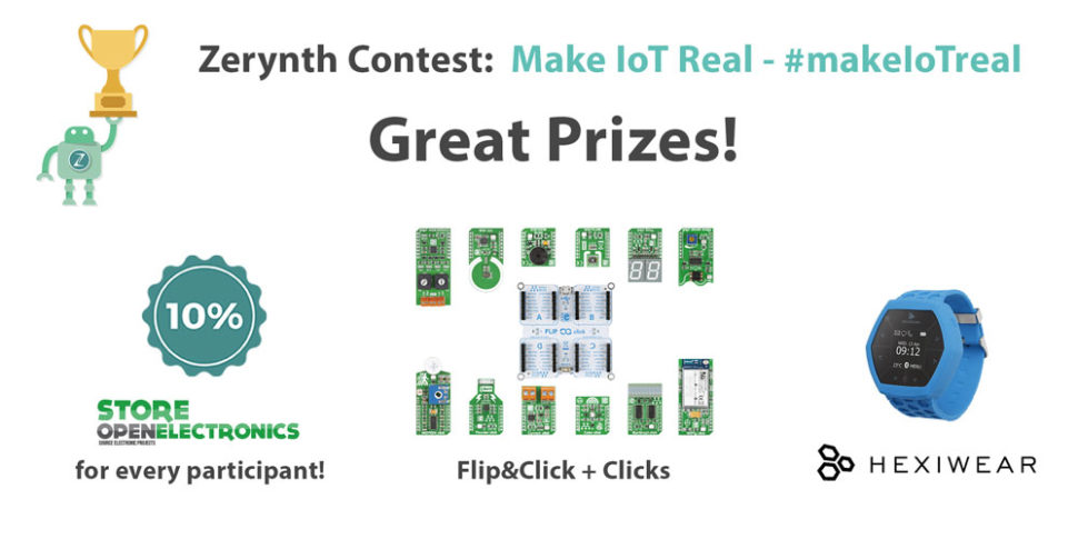 Zerynth Contest Make IoT Real - Prizes