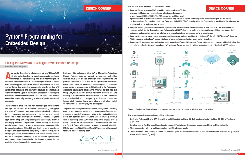 Zerynth on MicroSolutions (Microchip Digital Magazine) March/April 2017