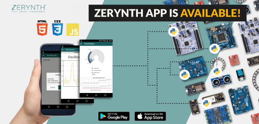 Make beautiful IoT dashboards with the Zerynth App. Now available on Android and iOS