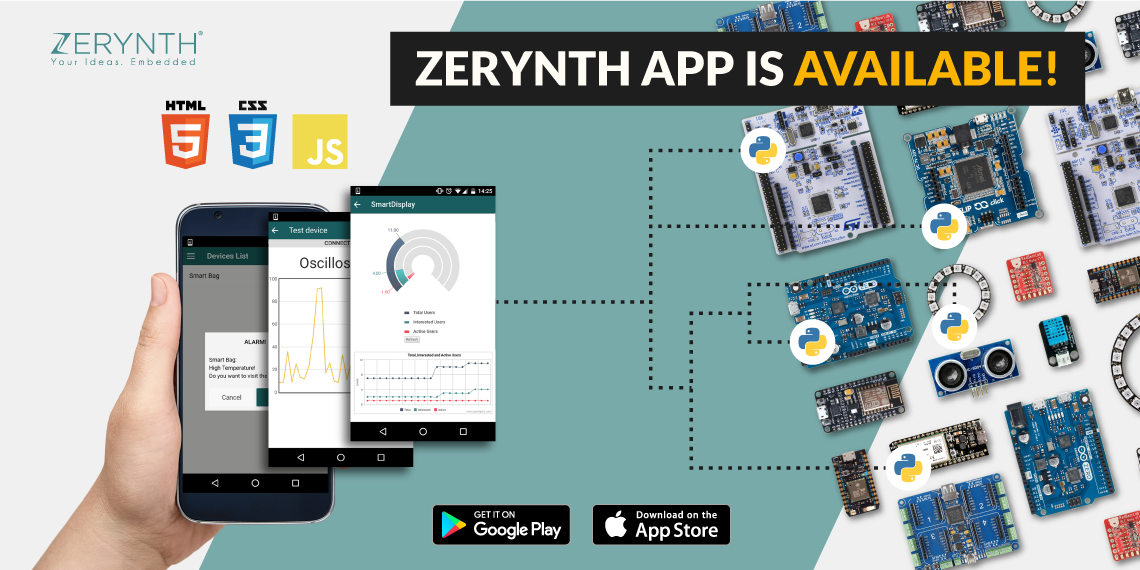Zerynth App for Android and iOS