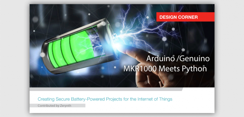 Arduino MKR1000 meets Python. Read more on Microchip digital magazine