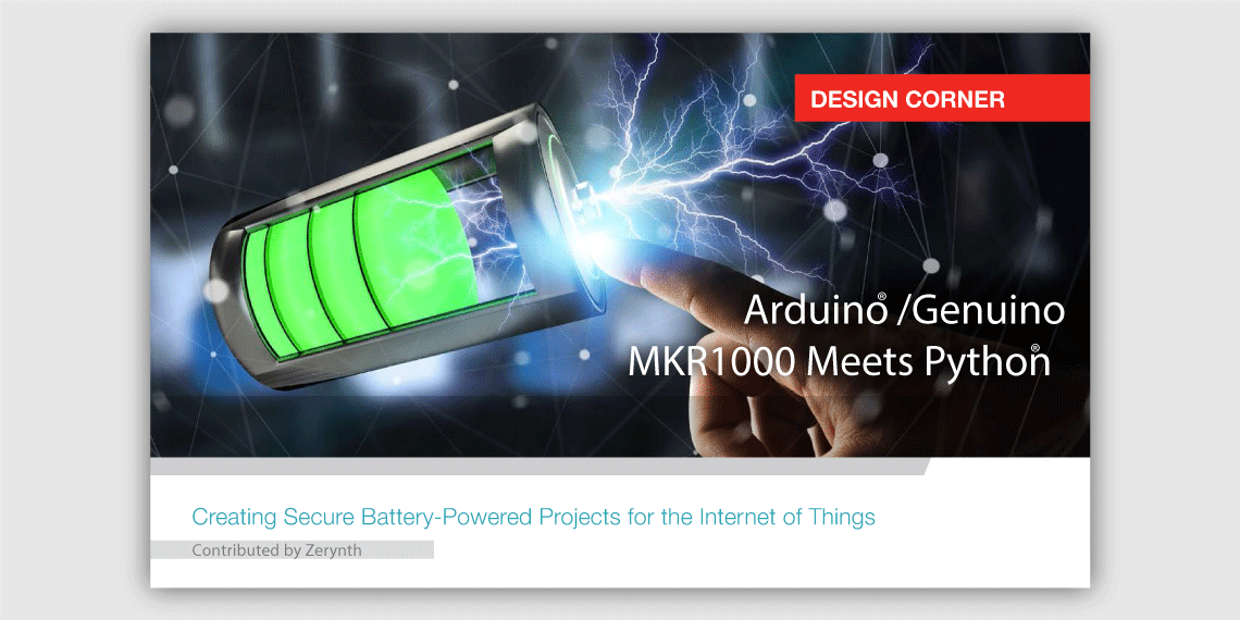 Arduino MKR1000 meets Python. Read more on Microchip digital magazine