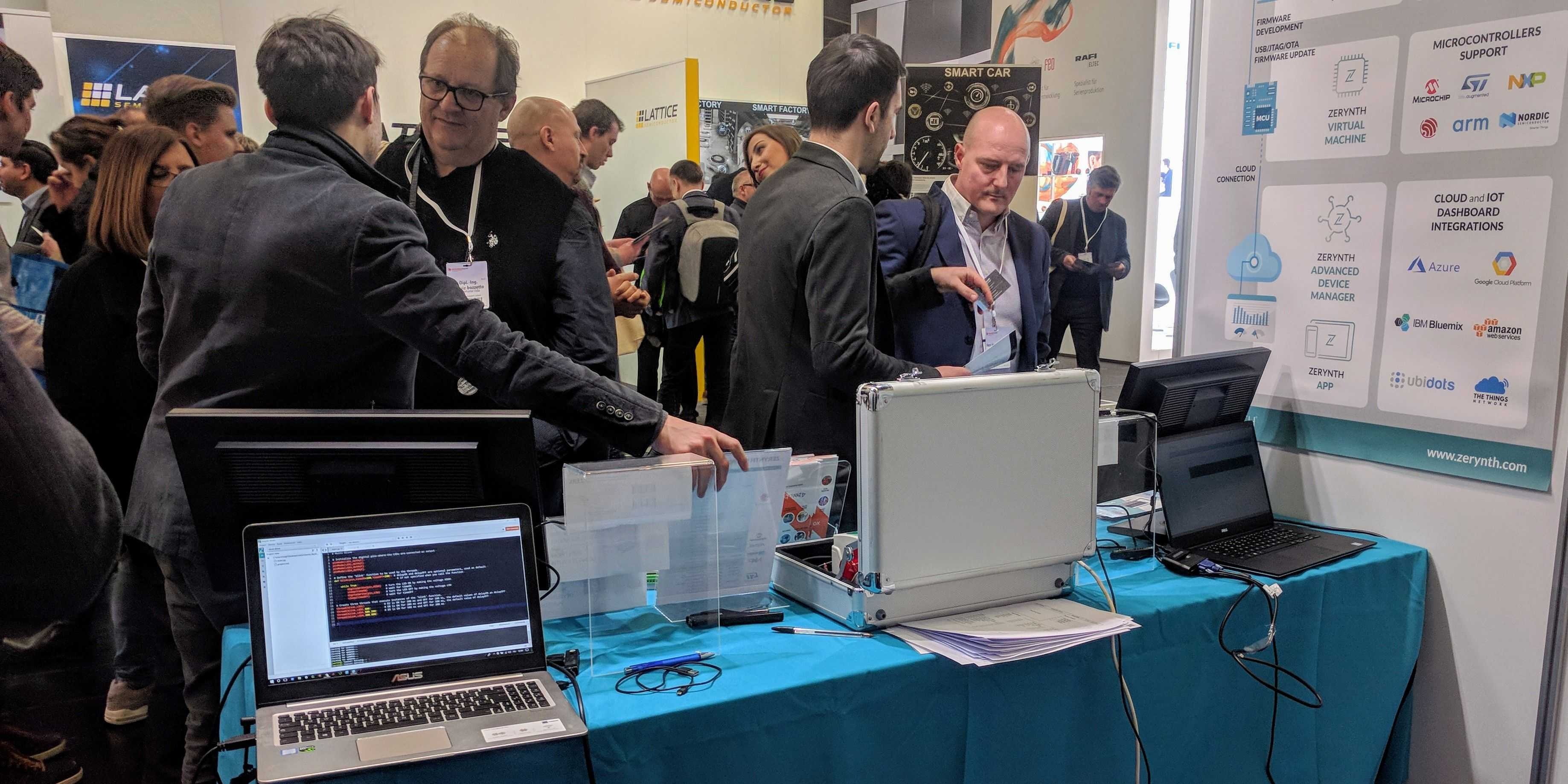 Day 2 at Embedded World with Zerynth – 4zerobox and lots of Python