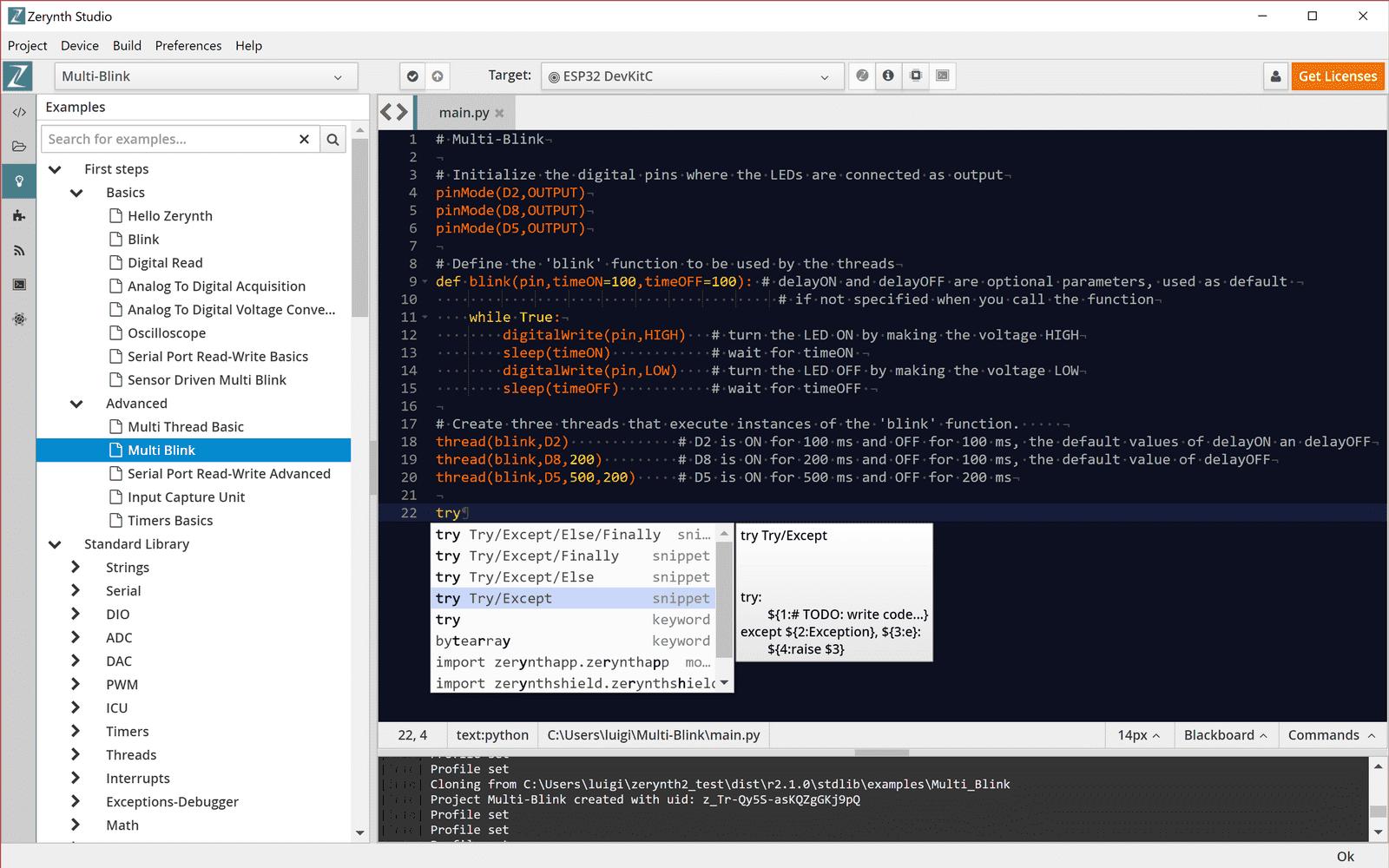 Zerynth Studio - A powerful IDE for embedded programming