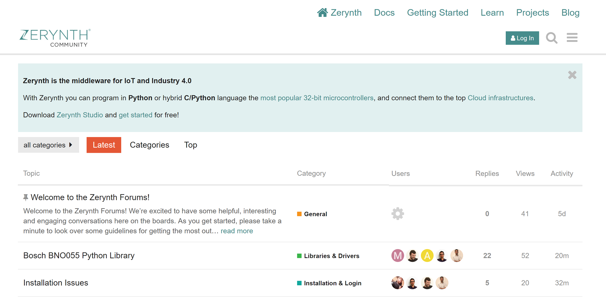 Zerynth Forum – Join the Community