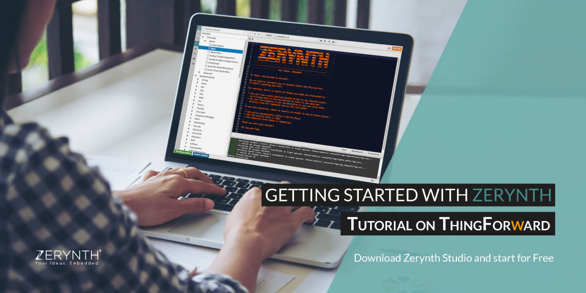 Zerynth tutorial on ThingForward getting started with Zerynth Studio