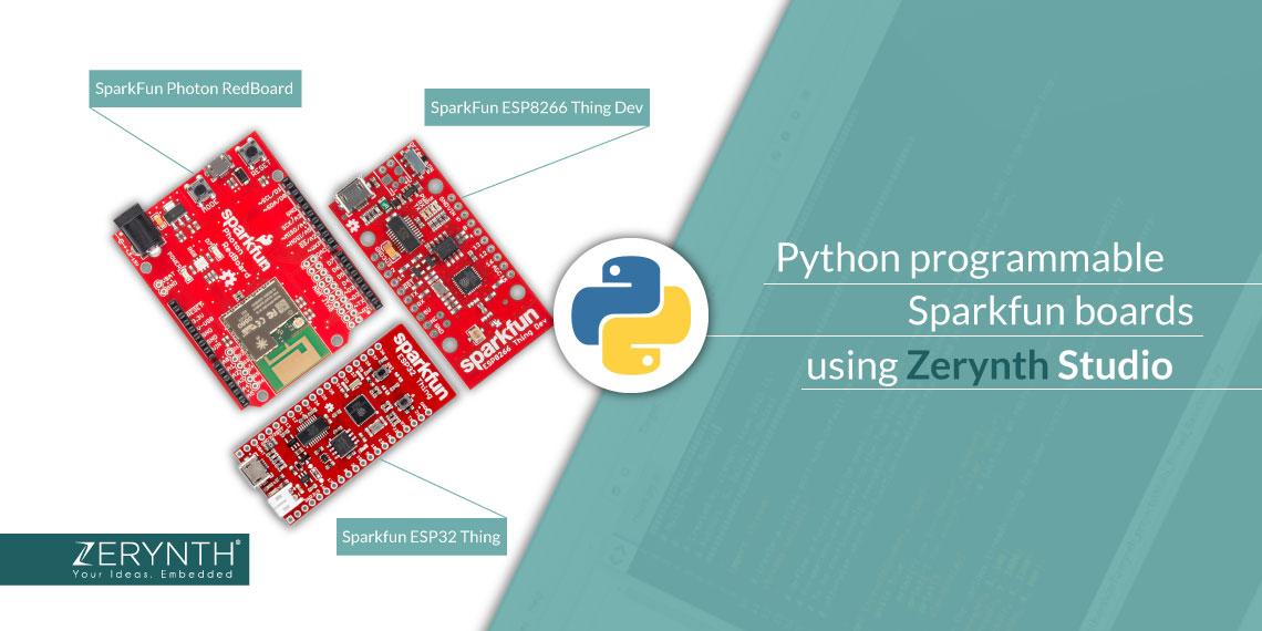 Python programmable SparkFun boards using Zerynth Studio