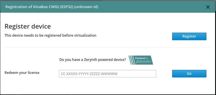 XinaBox voucher code Zerynth License