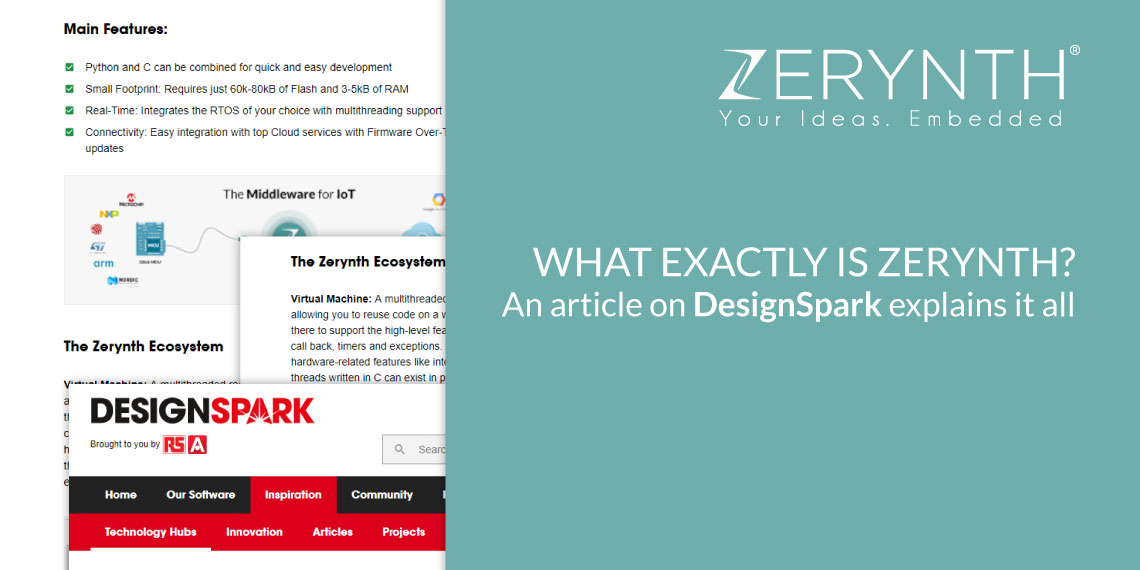 What exactly is Zerynth – article on DesignSpark explains it all