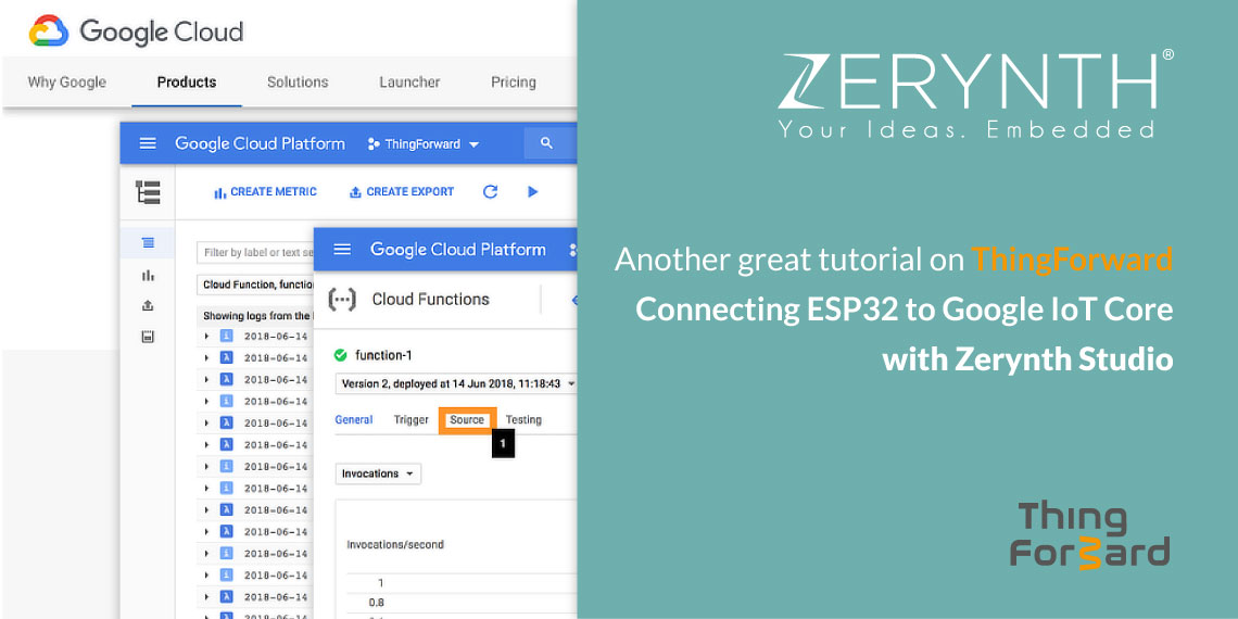 Another great tutorial on ThingForward – Connecting ESP32 to Google IoT Core with Zerynth Studio
