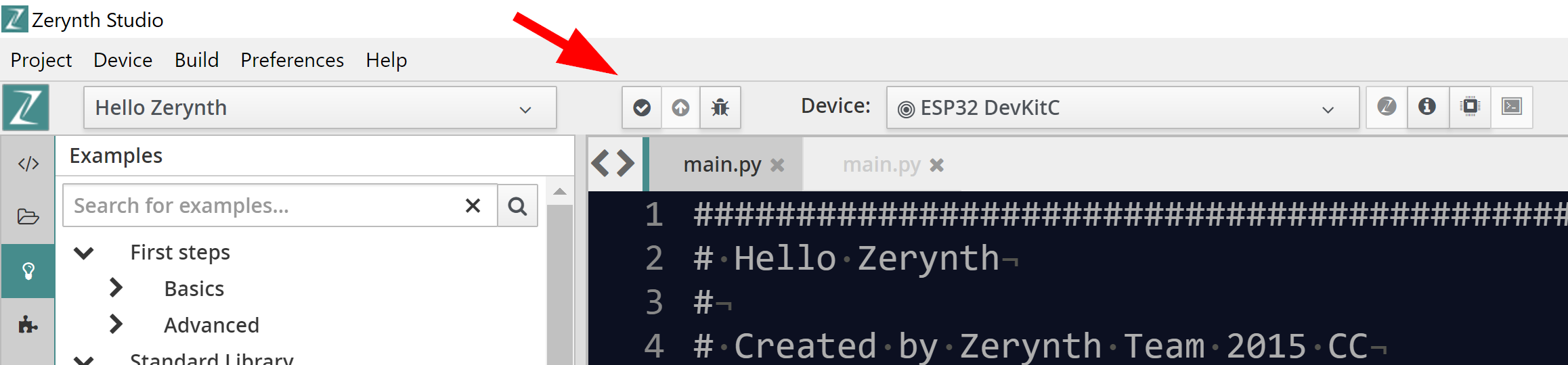 How to uplink your Zerynth project