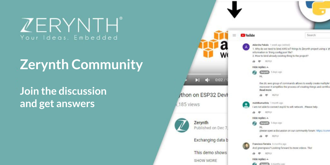 Zerynth community – join the discussion and get answers