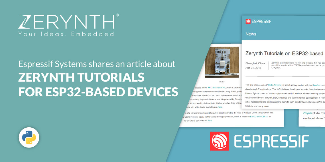Espressif Systems shares an article about Zerynth tutorials