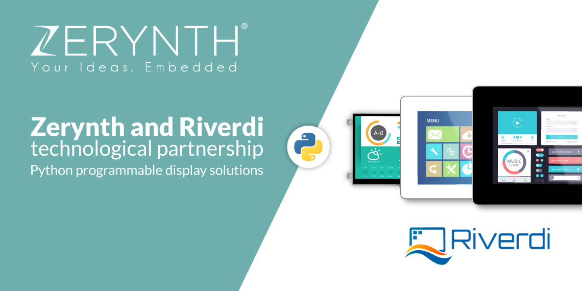 Zerynth and Riverdi technological partnership – Python programmable display solutions