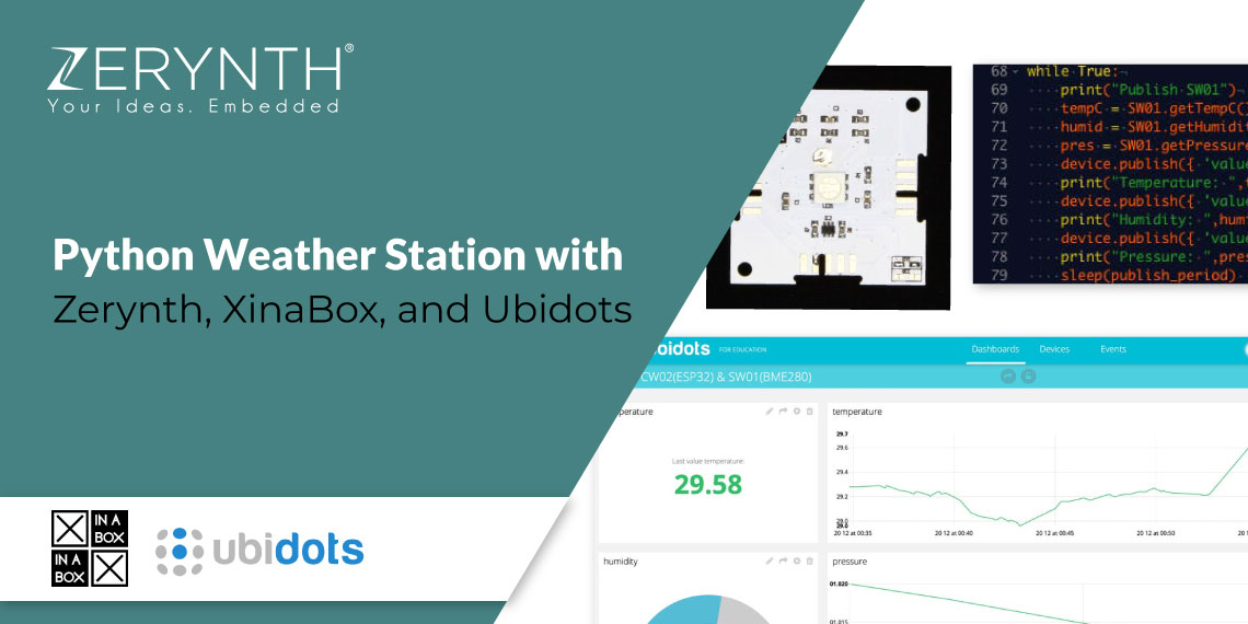 Zerynth weather station xinabox ubidots