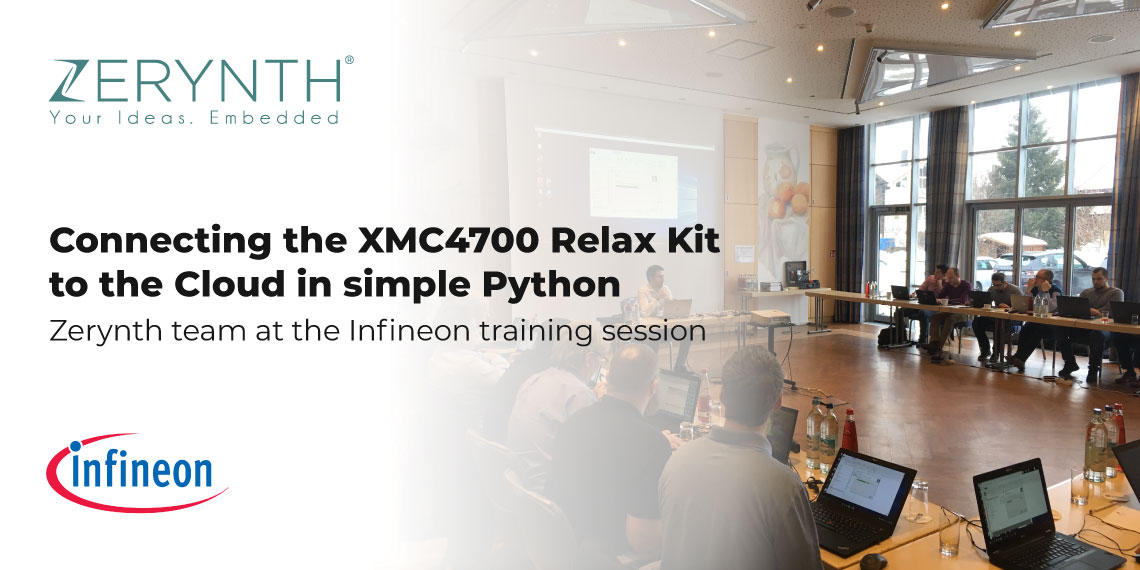 Connecting the XMC4700 Relax Kit to the Cloud in simple Python – Zerynth team at the Infineon training session