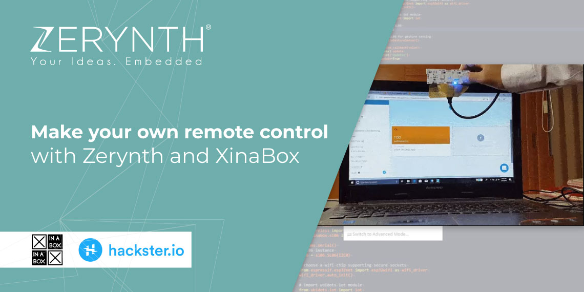 Make your own remote control with Zerynth and XinaBox