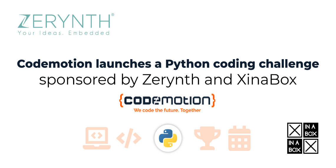 Codemotion launches a Python coding challenge – sponsored by Zerynth and XinaBox