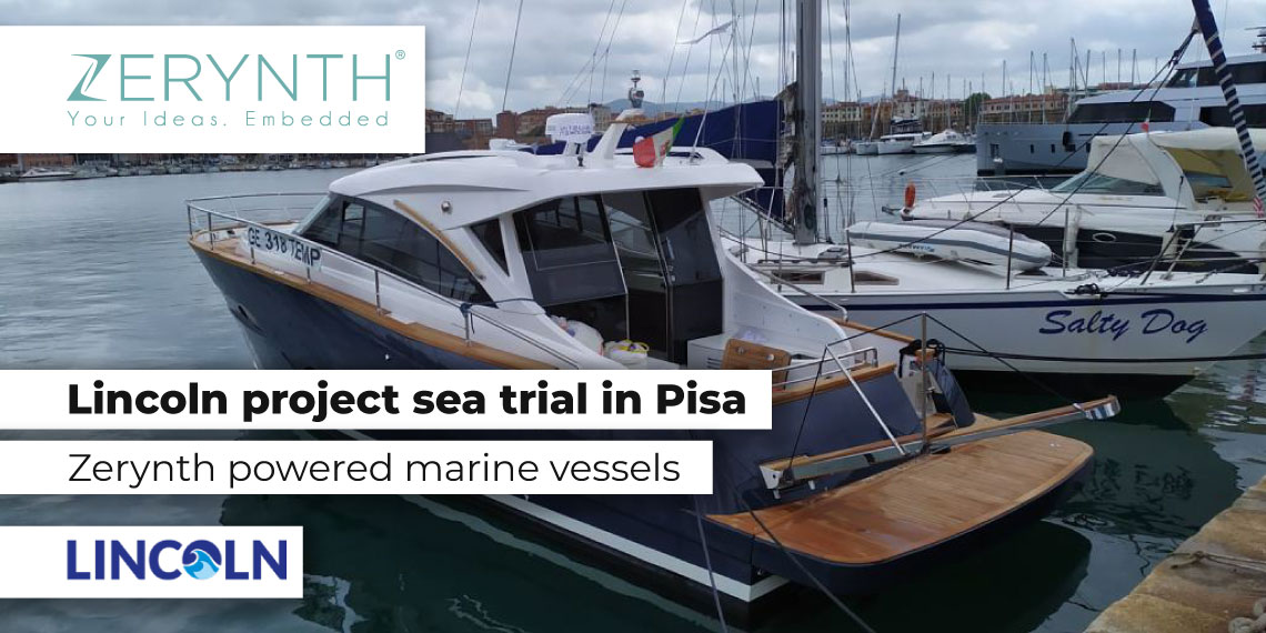 Lincoln project sea trial in Pisa – Zerynth powered marine vessels