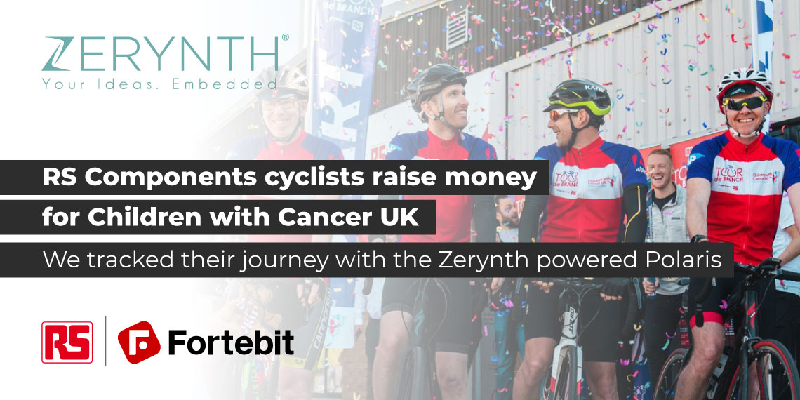 RS Components cyclists raise money for Children with Cancer UK – we tracked their journey with the Zerynth powered Polaris