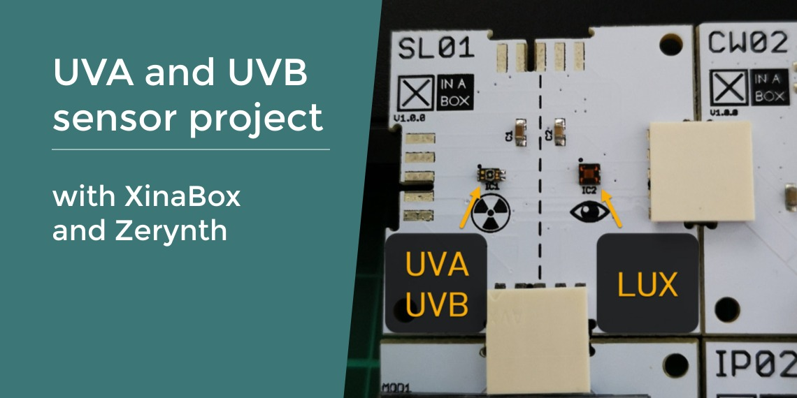 UVA and UVB sensor project with XinaBox and Zerynth
