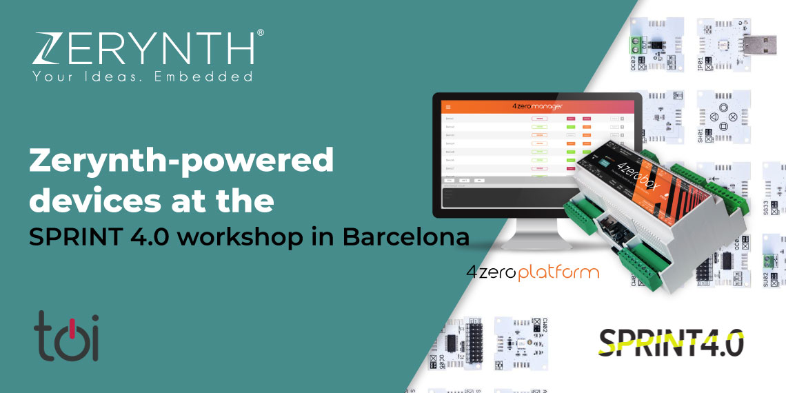 Zerynth-powered devices at the SPRINT 4.0 workshop in Barcelona