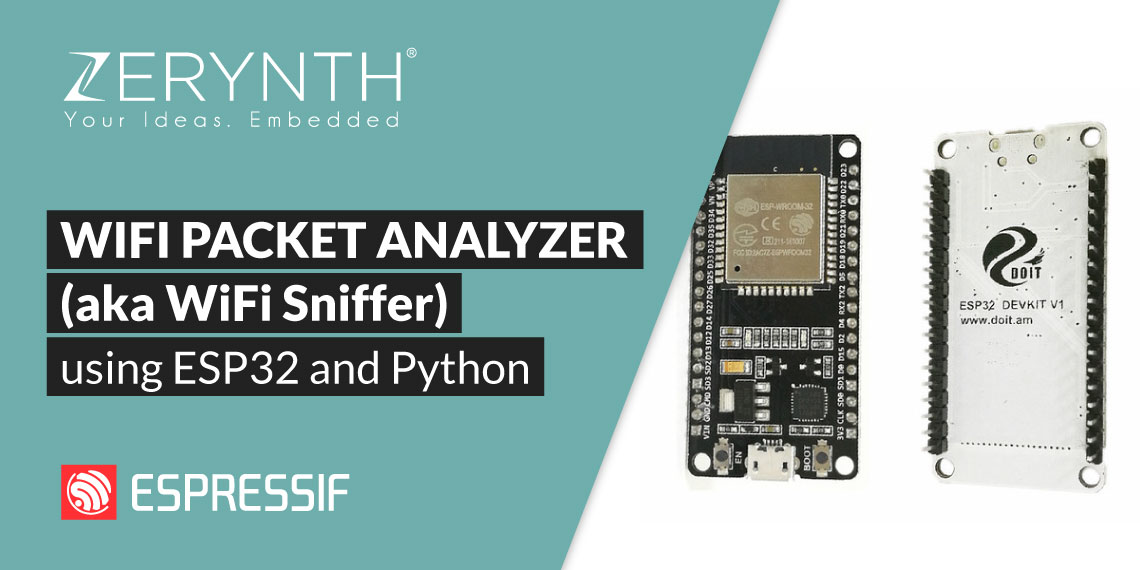 WiFi Packet analyzer (aka WiFi Sniffer) using ESP32 and Python