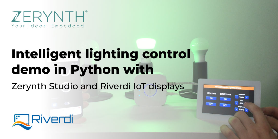 Intelligent lighting control demo in Python with Zerynth