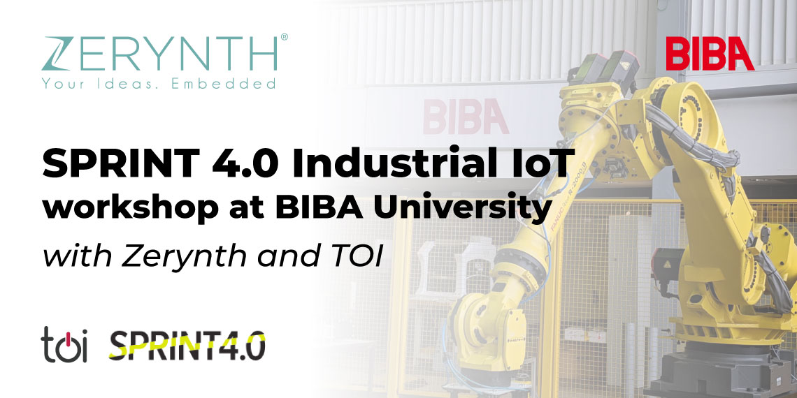 SPRINT 4.0 Industrial IoT workshop at BIBA University with Zerynth and TOI