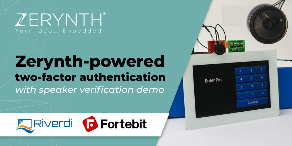 Zerynth-powered two-factor authentication with speaker verification demo