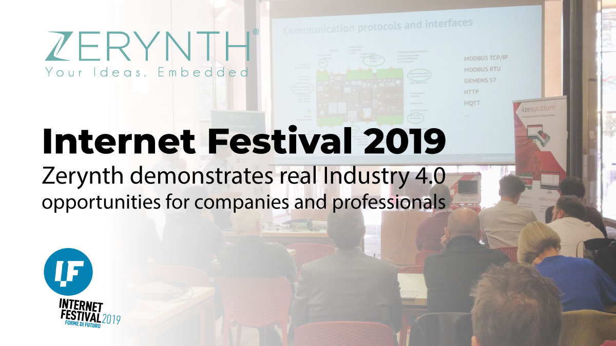 Internet Festival 2019 – Zerynth demonstrates real Industry 4.0 opportunities for companies and professionals