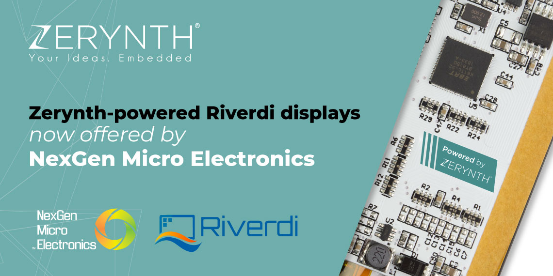 Zerynth-powered Riverdi displays now offered by NexGen Micro Electronic