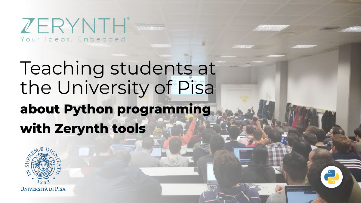 Teaching students at the University of Pisa about Python programming with Zerynth tools
