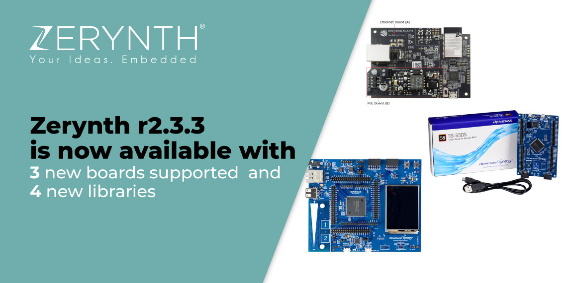 Zerynth r2.3.3 is now available with 3 new boards supported and 4 new libraries