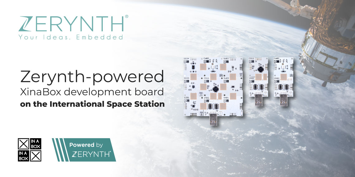 Zerynth-powered XinaBox development board on the International Space Station