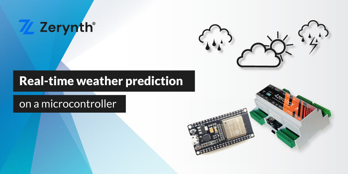 Zerynth Weather predicion on a microcontroller