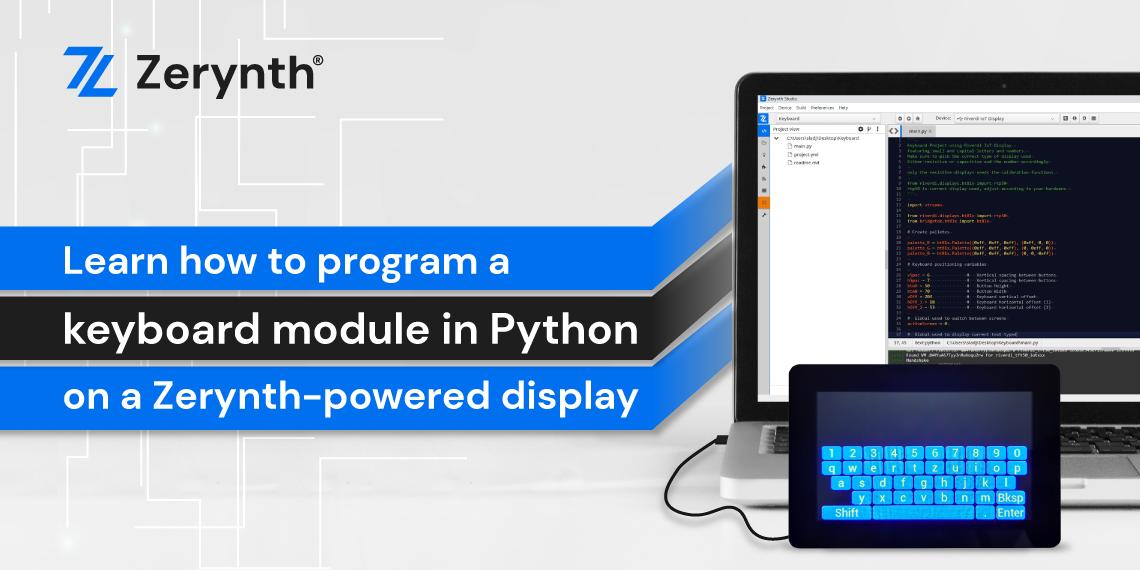 Zerynth keyboard module demo Python